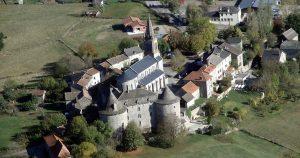 Village de Sanvensa vue du ciel